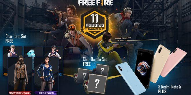 Miliki Karakter Item Set Gratis Hingga Hadiah Handphone Di Free Fire 1st Anniversary!