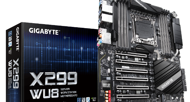 GIGABYTE Meluncurkan Motherboard Workstation:  X299-WU8 And C246-WU4